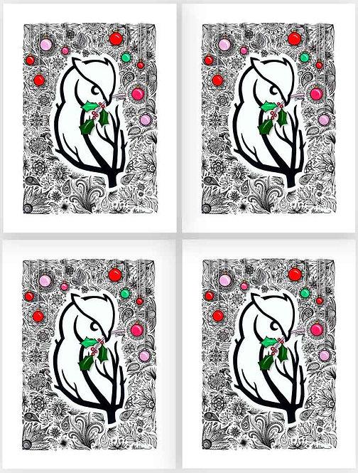Gift Tag Set: Owl-leluia