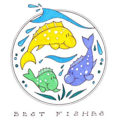 Best Fishes Wishes Humour Funny Greeting Cards