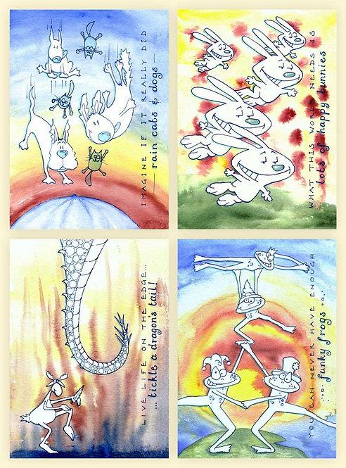 Odd Idioms Drawn Art Humour Funny Greeting Cards