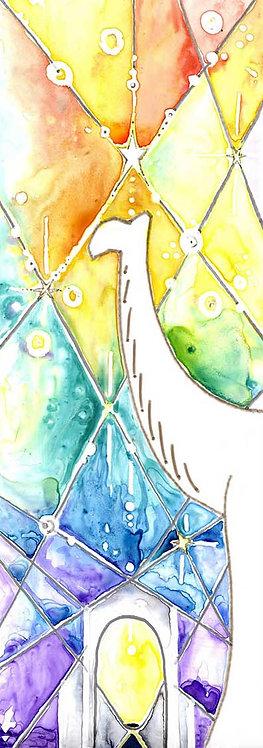 Camel Star Guiding Wise Men Watercolour Art Christmas Card