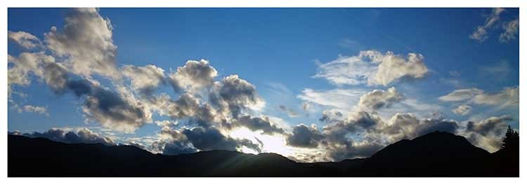 Dream time horizons cloud party blue sky sun photo greeting card