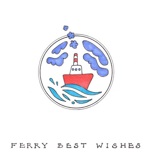 Ferry Very Best Wishes Humour Funny Greeting Cards