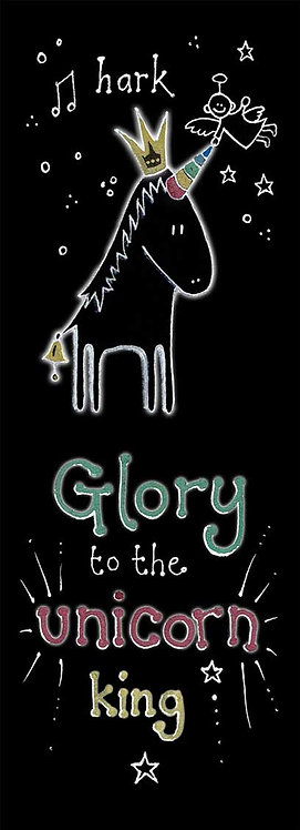 Unicorn King Glory Art Christmas Card