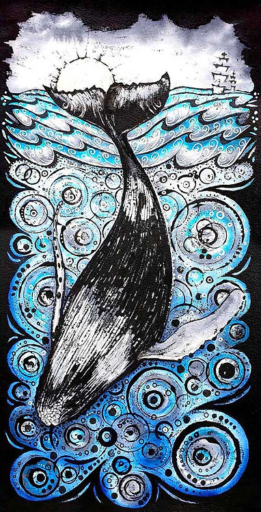 Whale Tail Tale Sea Greeting Card