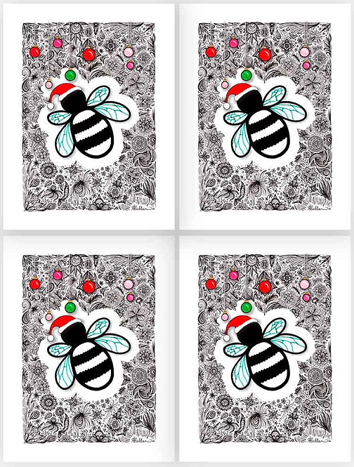 Gift Tag Set: Bee Merry