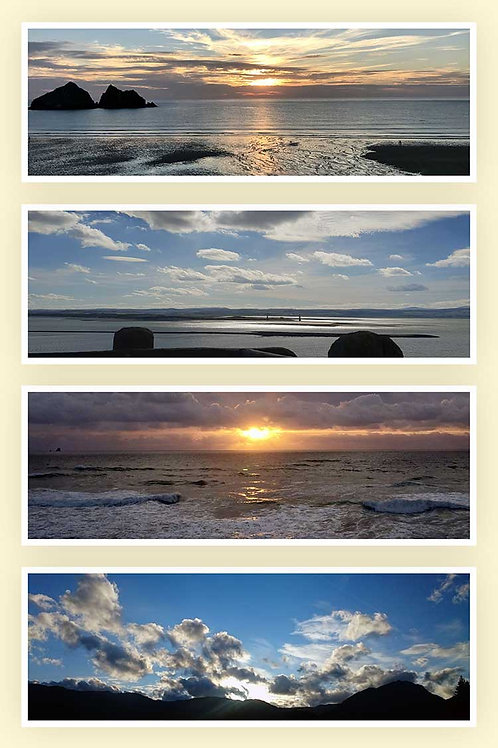 Dream time horizons sea sky dusk delight dancing light seaset cloud party photo greeting card