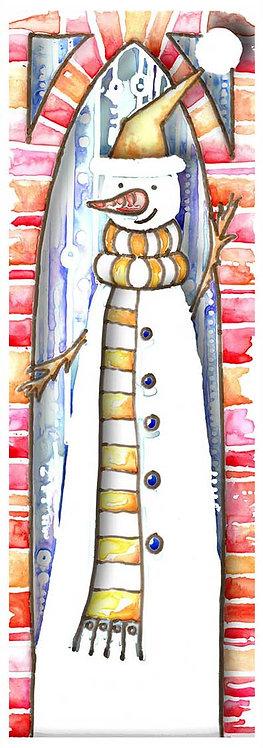 Snowman Watercolour Art Christmas Card