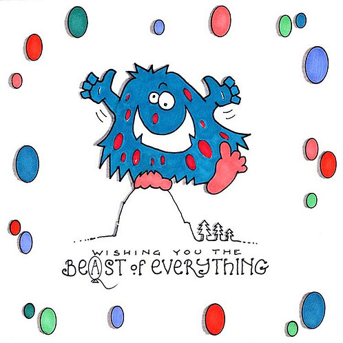 Beast of Everything Best Monster Humour Funny Greeting Cards