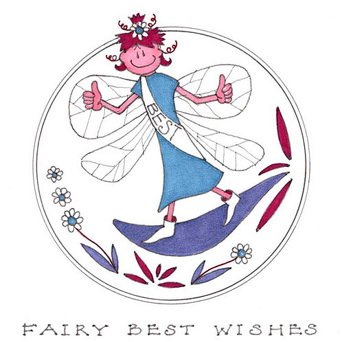 Fairy Very Best Wishes Humour Funny Greeting Cards
