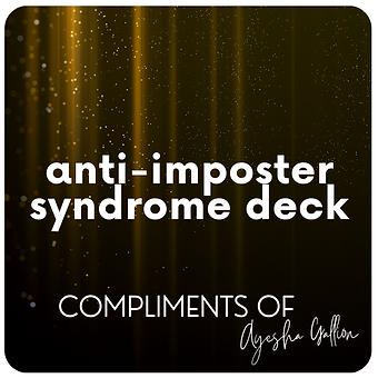 Anti-imposter syndrome deck