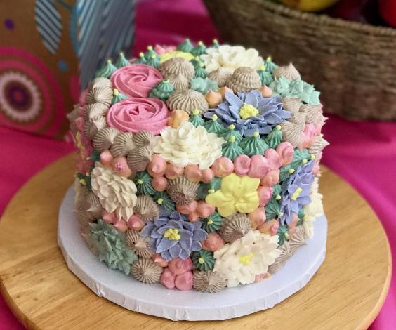 Succulent Birthday Cake