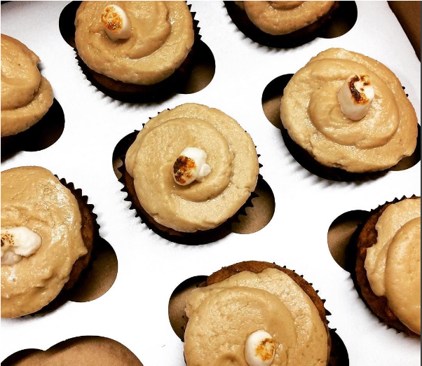 Candied Sweet Potato Cupcakes