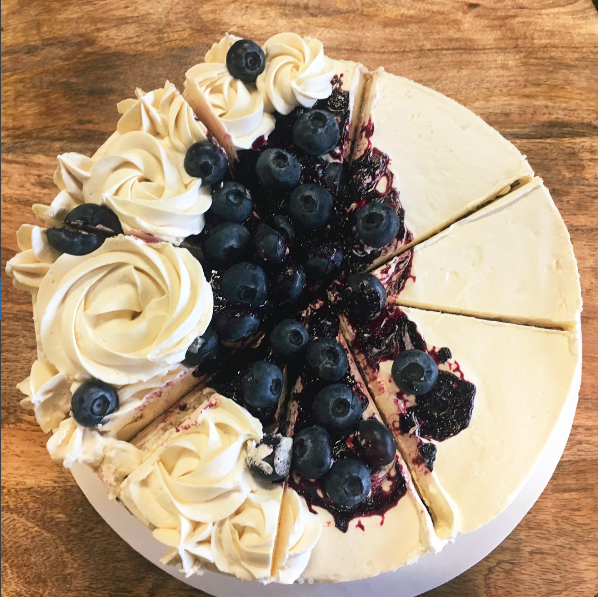 Vegan Organic Soy-Free Gluten-Free and Kosher  Blueberry Lemon Cake