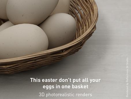 3D render Easter campaign