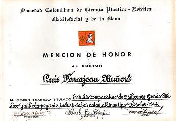Dr Luis Pavajeau Premio Arcadio Forero 1994