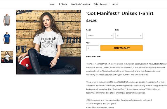 Manifest in Style Product Description Po