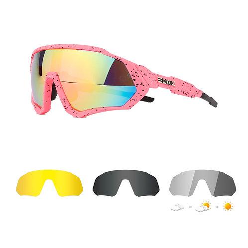 Gafas 4 lentes ELAX Hallo Fotocromáticas Polarizadas PINK