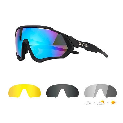 Gafas 4 lentes ELAX Hallo Fotocromáticas Polarizadas NEGRO