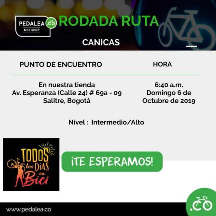 Rodada pedalea.co RUTA