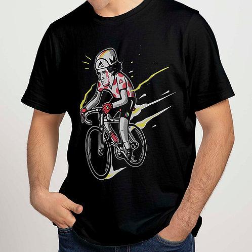 Camiseta negra LUCHITO 100% algodón