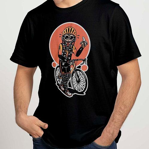 Camiseta negra MONKEY 100% algodón
