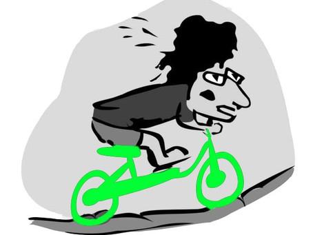 El muchacho de la bici verde