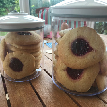 Bringebærcookies - Raspberry cookies with homemade jam