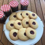 Bringebærcookies - Raspberry cookies with homemade jam