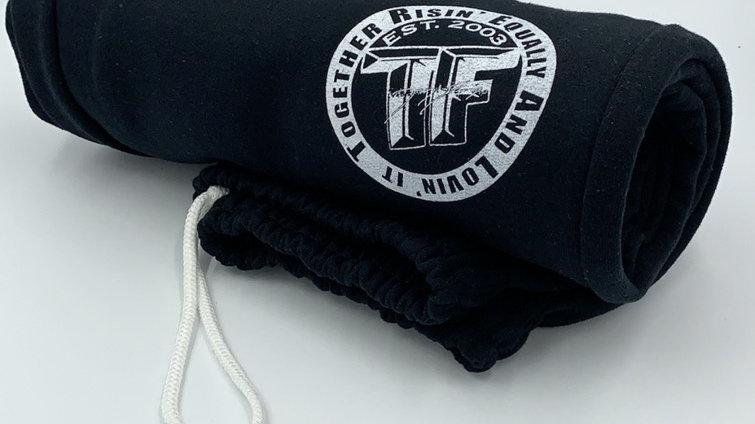 Open leg sweatpants w/pockets (Black/White)