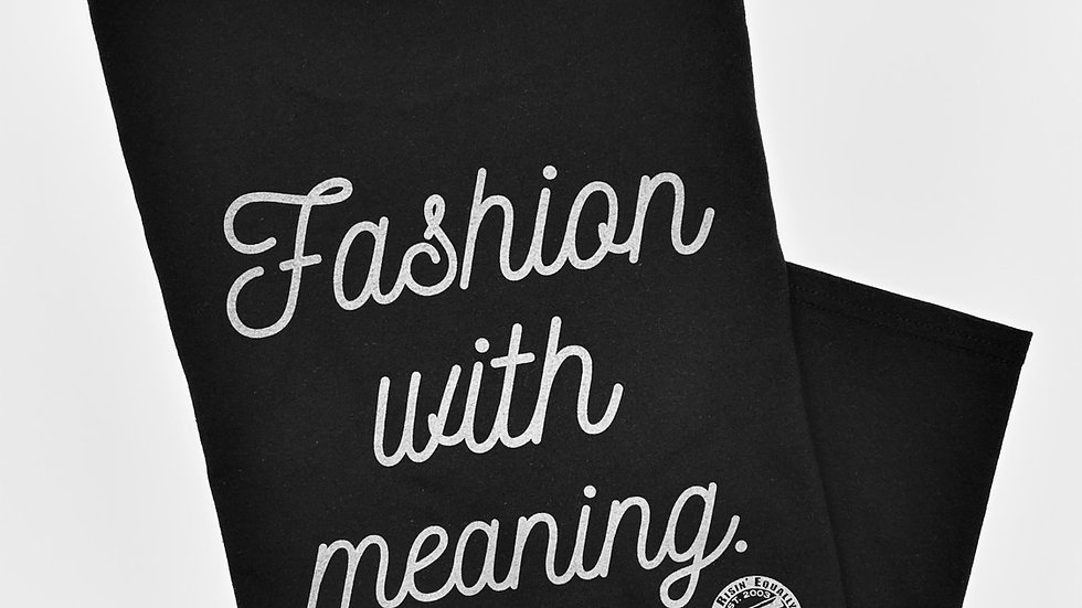 Fashion With Meaning  CrewNeck Tee (Black/Silver)