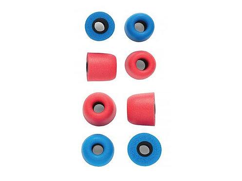 Campfire Marshmallow Foam Tips: (כחול ואדום) אטמי ספוג זיכרון לאוזניות