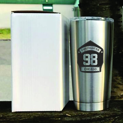 Firefighter personalized tumbler
