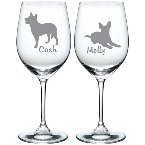 Blue Red Heeler Glass Gift Personalized