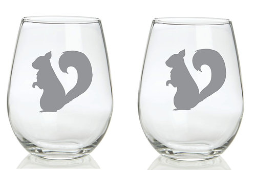 Squirrel Personalized Glass
