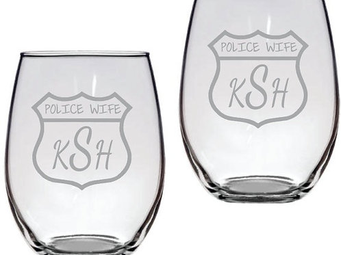 Police Wife Personalized Shield