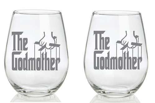 The Godmother Personalized Glass Gift