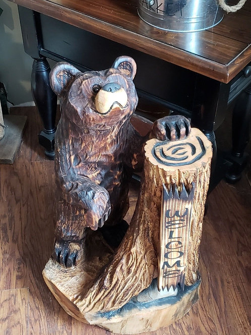 Bear Chainsaw Carving Braden Wulf