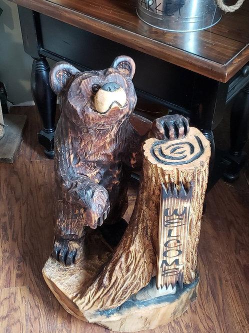 Bear Chainsaw Carving Braden Wulf