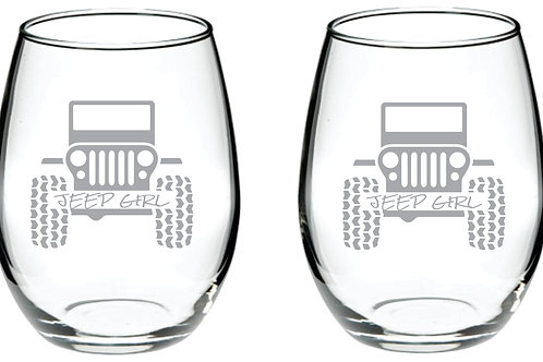 Jeep Girl Personalized Glass Gift