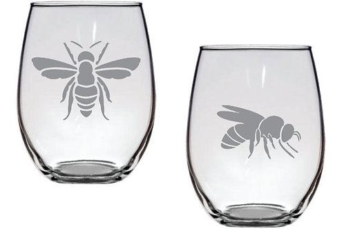 Bees personalized glass gift