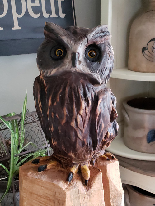 My first owl carving