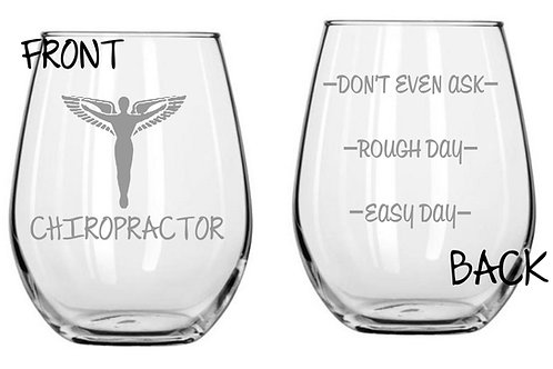 Chiropractor Personalized Glass Gift