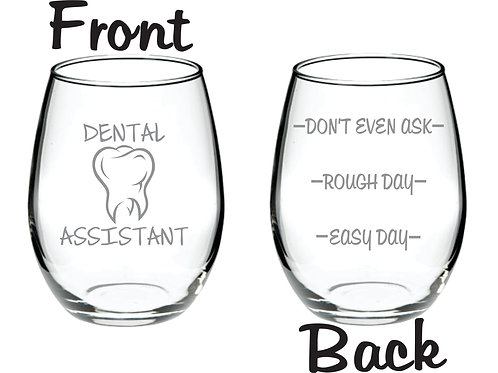 Dental Assistant Personalized Glass Gift