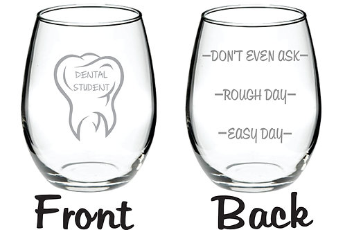 Dental Student Personalized Glass Gift