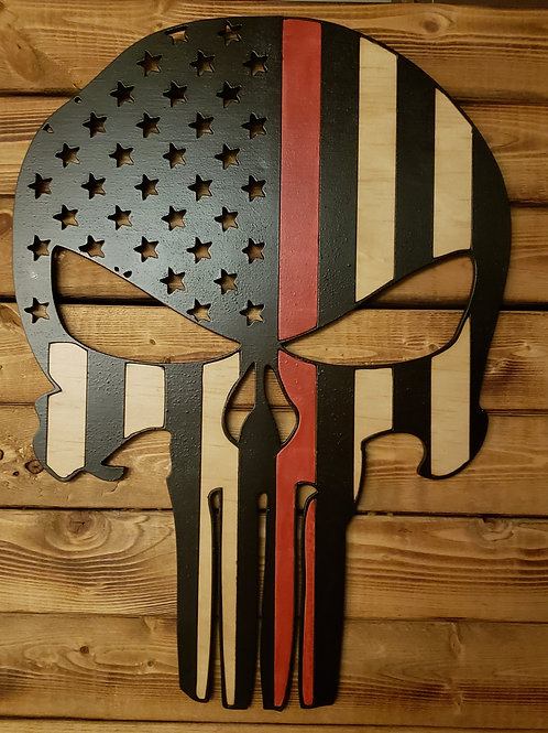 Punisher Flag with Red Line