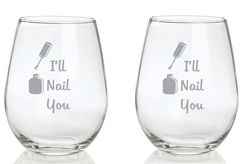 I'll Nail You Personalized Glass Gift