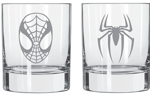 Spiderman Set of 2 personalized glass gift