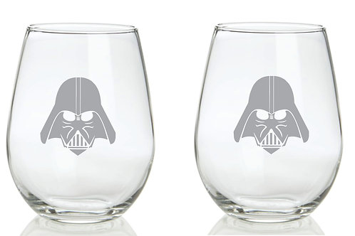 Darth Vadar Personalized Glass Gift