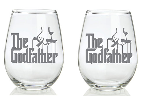 The Godfather Personalized Glass Gift.