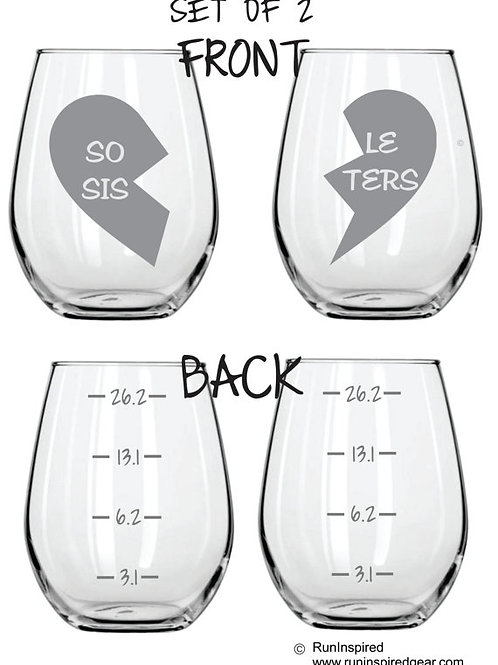 sole sisters personalized glass gift